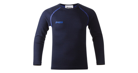 Bergans Akeleie Kids Shirt Navy/Warm Cobolt